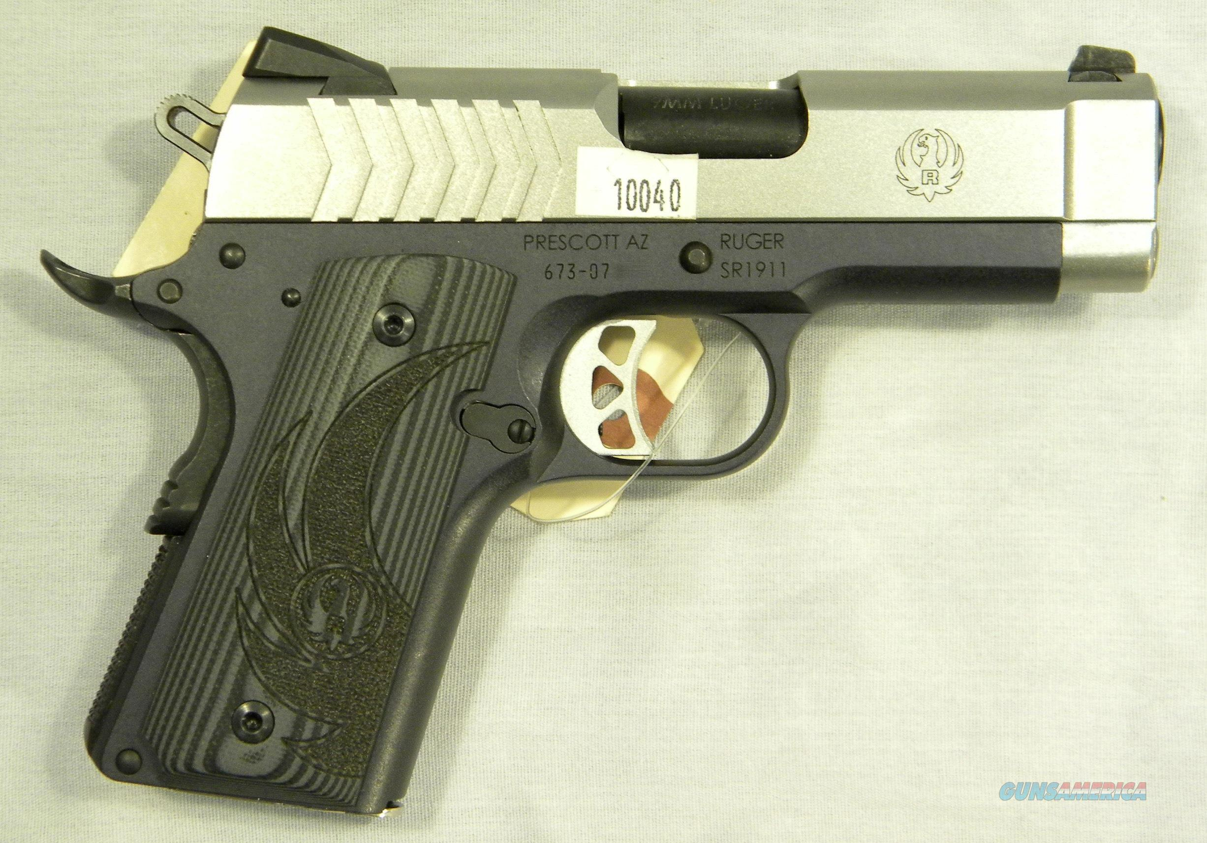 Ruger SR1911 Light Weight Officer's 9mm, Used, With Holster  Guns > Pistols > Ruger Semi-Auto Pistols > 1911