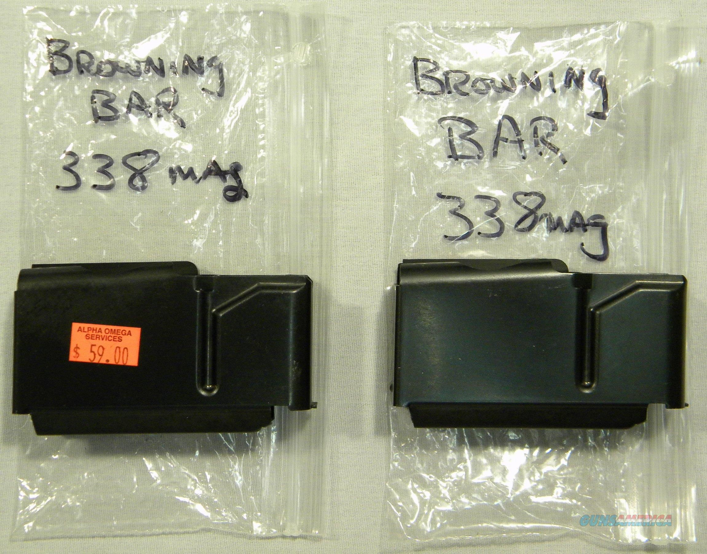 Browning BAR Magazines, .338 Win Mag, New, No Box  Non-Guns > Magazines & Clips > Rifle Magazines > Other