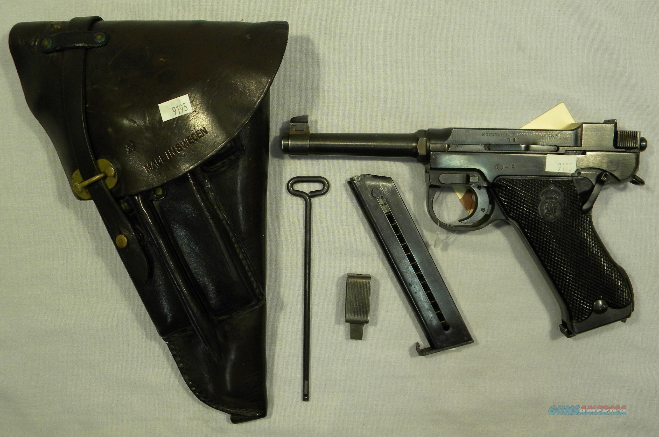 1946 Husqvarna M40, 9mm Semi-Auto Pistol With Holster And Mags  Guns > Pistols > Husqvarna Pistols