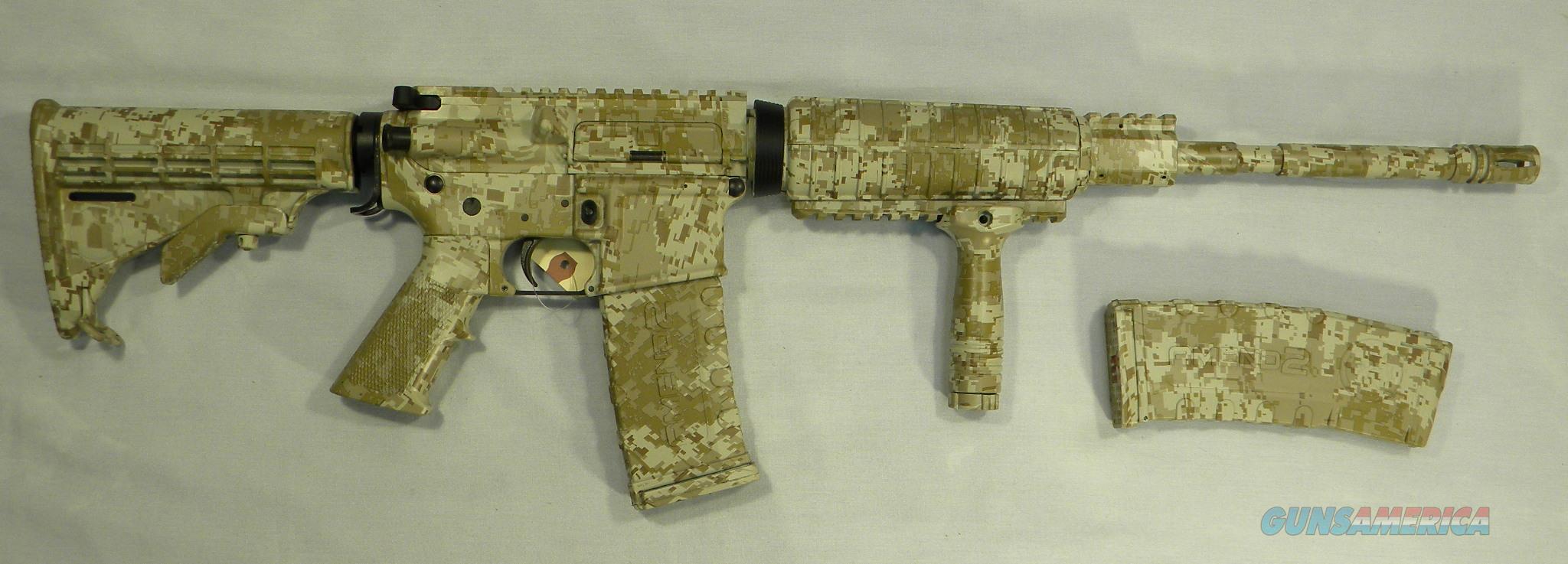 AR-15 Rifle, AOS Exclusive! LAR Grizzly-15 M4 Rifle In ''Tiger-Stripe'' Desert Digital Camo, 5.56 NATO/.223 Rem  Guns > Rifles > LAR/Grizzly Mfg. Co. Rifles