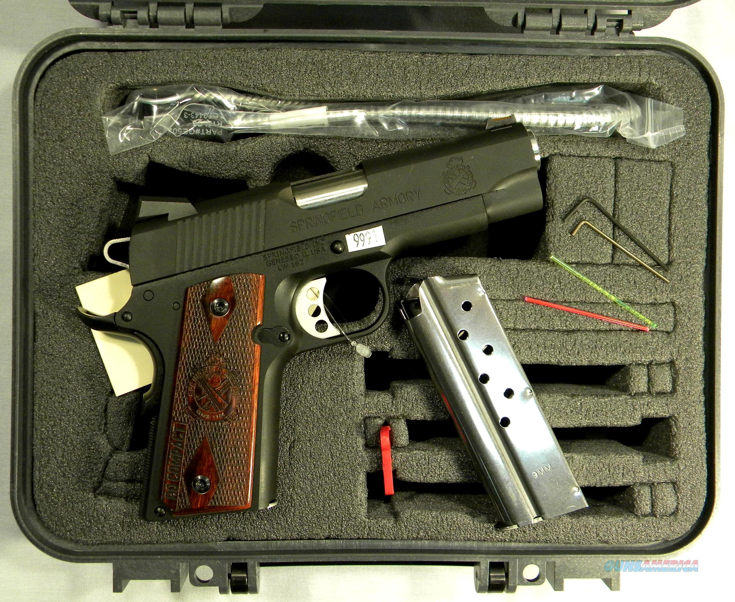 "Springfield 1911 Compact Light Weight ""Range Officer"" In 9mm, Like New  Guns > Pistols > Springfield Armory Pistols > 1911 Type"