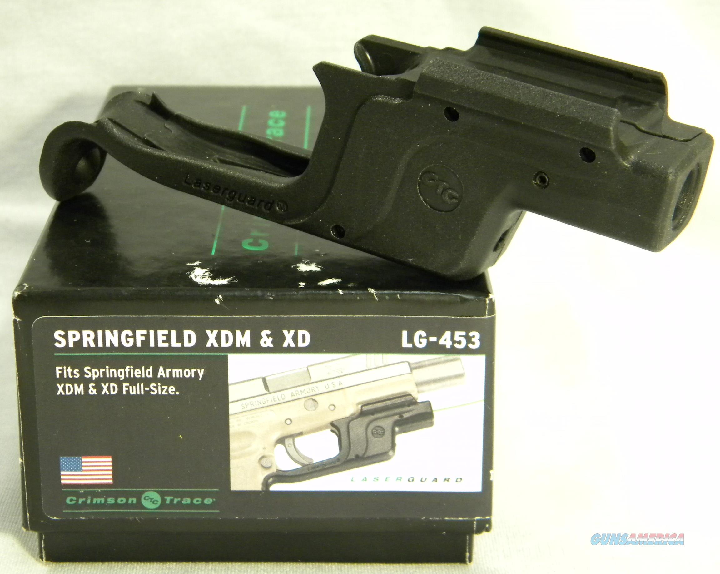 Crimson Trace LG-453 Green Laser For Springfield Full-Sized XD & XDM, Crimson Trace Lasers Inventory Reduction Sale!  Non-Guns > Scopes/Mounts/Rings & Optics > Non-Scope Optics > Other