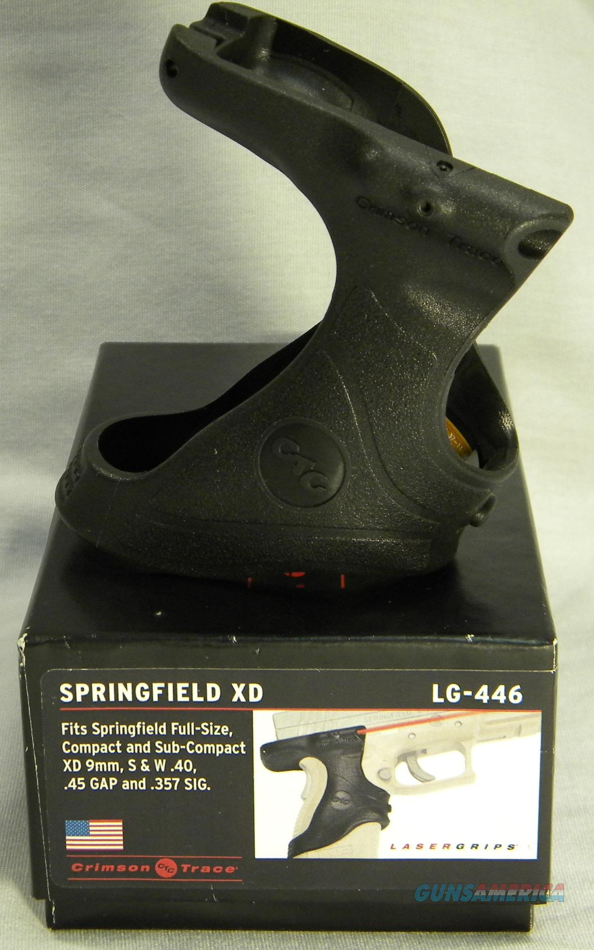 Crimson Trace LG-446 Full Grip Wrap Mount Red Laser For Springfield XD's In 9mm, .40, .45GAP, & .357SIG, Crimson Trace Lasers Inventory Reduction Sale!  Non-Guns > Scopes/Mounts/Rings & Optics > Non-Scope Optics > Other