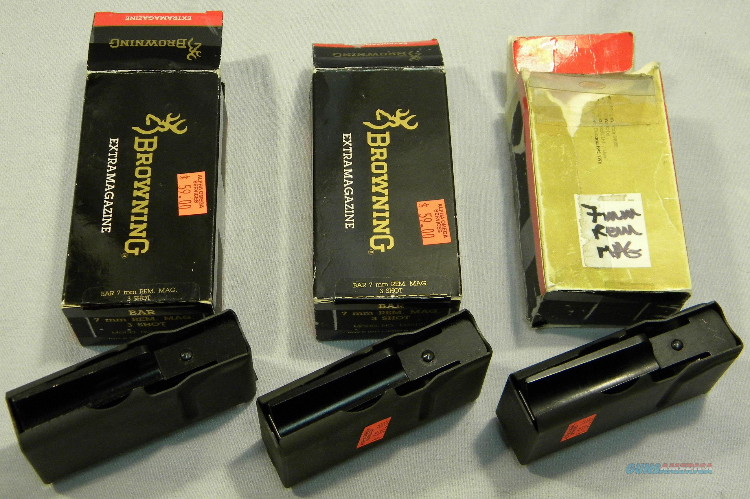 Browning BAR Magazines, 7mm Rem Magnum, New, In Factory Boxes  Non-Guns > Magazines & Clips > Rifle Magazines > Other