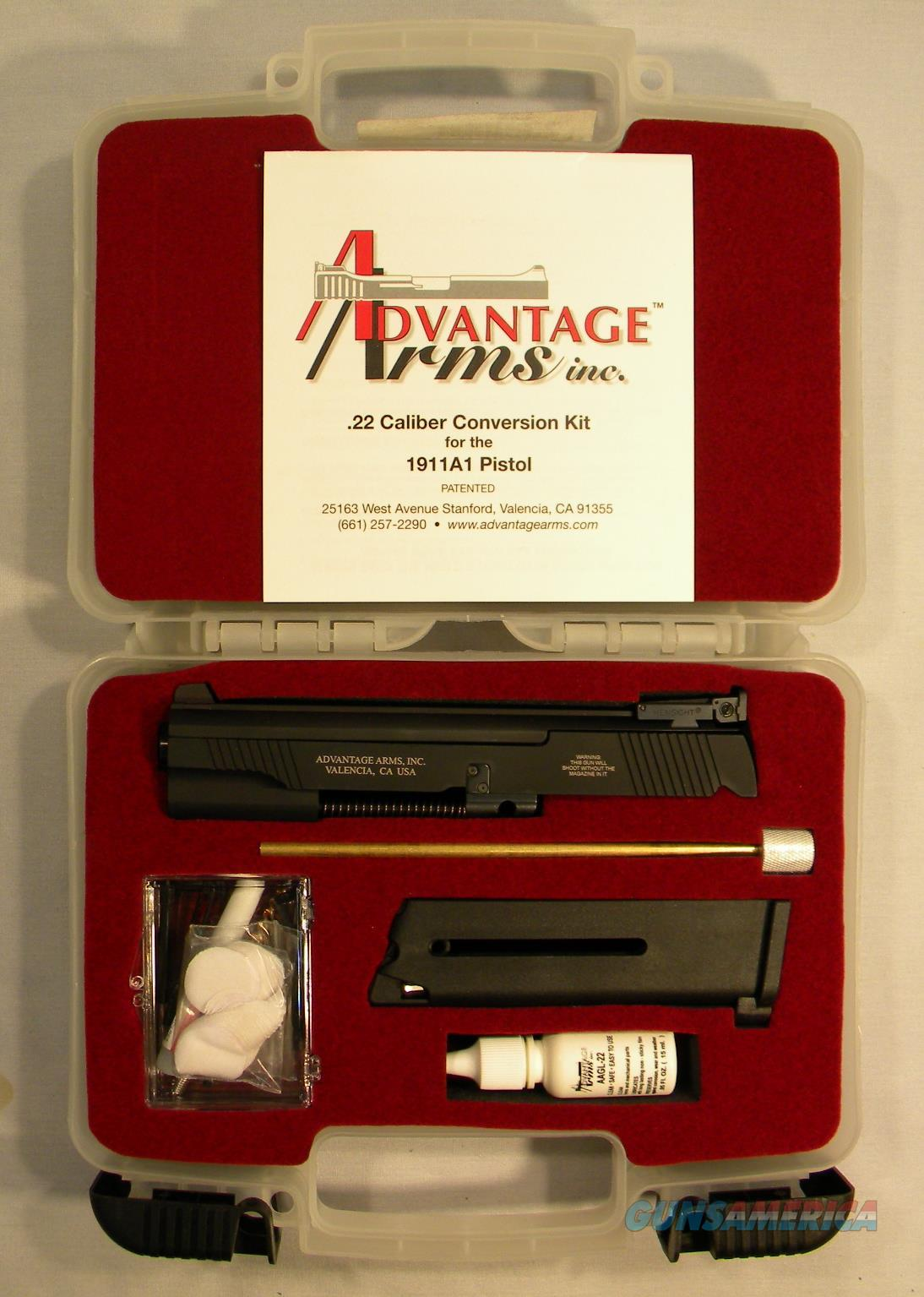 Advantage Arms .22LR Conversion Kit For 1911  Non-Guns > Gun Parts > 1911