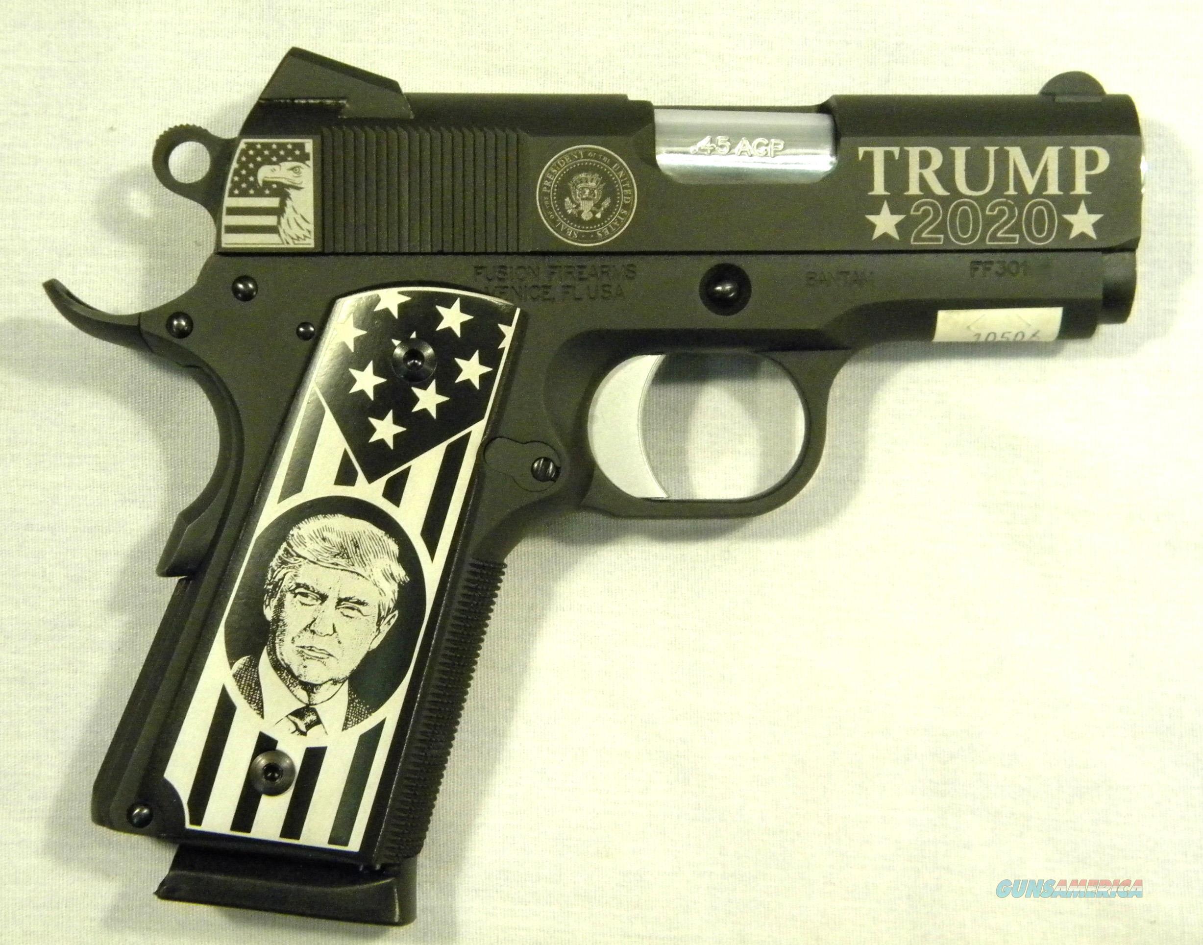 """""""Trump 2020"""" Fusion Firearms Bantam 1911, .45 ACP Semi-Auto Pistol, New In Box  Guns > Pistols > 1911 Pistol Copies (non-Colt)"""