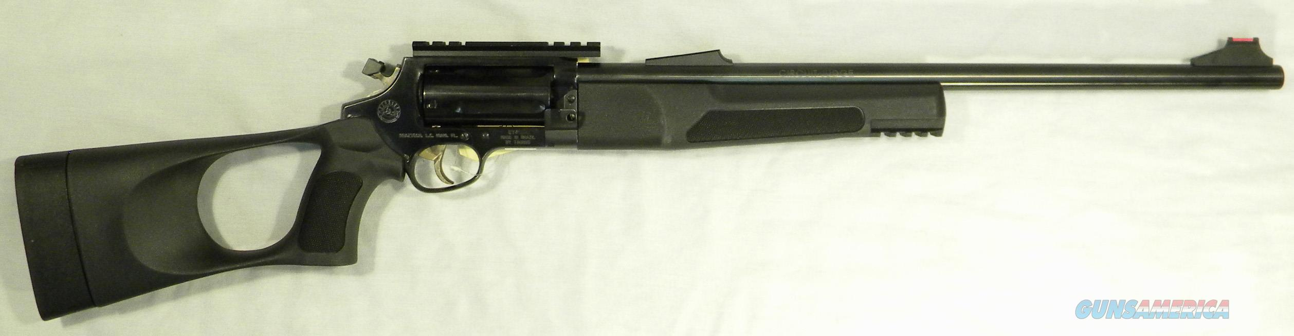 """Rossi """"Circuit Judge"""" Revolver Rifle, .45 Long Colt And .410 Shotgun Shells, 18-1/2"""" Blued, In """"Tuffy"""" Composite Stock  Guns > Rifles > Rossi Rifles > Other"""
