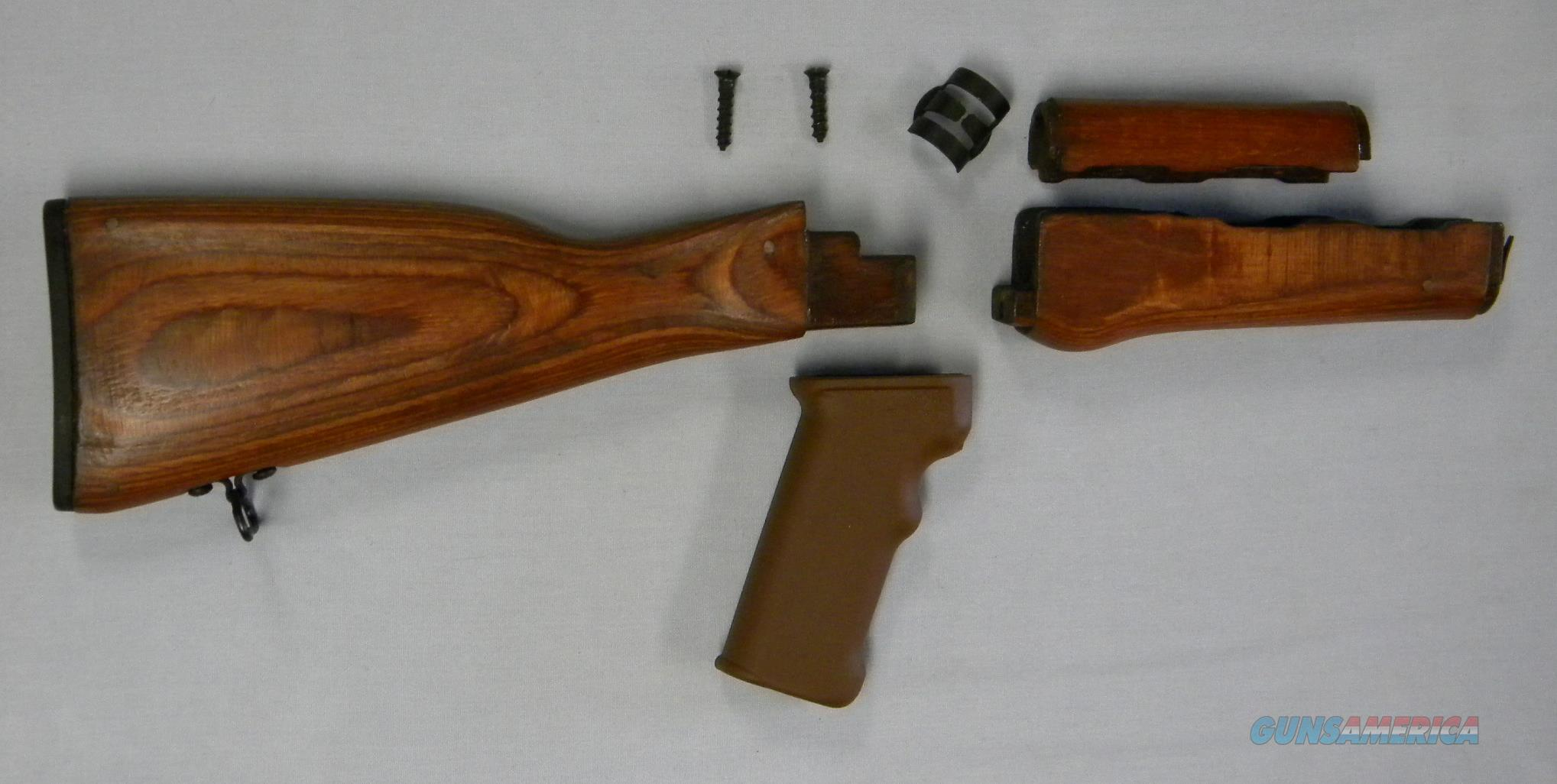 Romanian AK Stock Sets, Laminated, Stained/Finished, ''Military New'', Free Shipping!  Non-Guns > Gunstocks, Grips & Wood