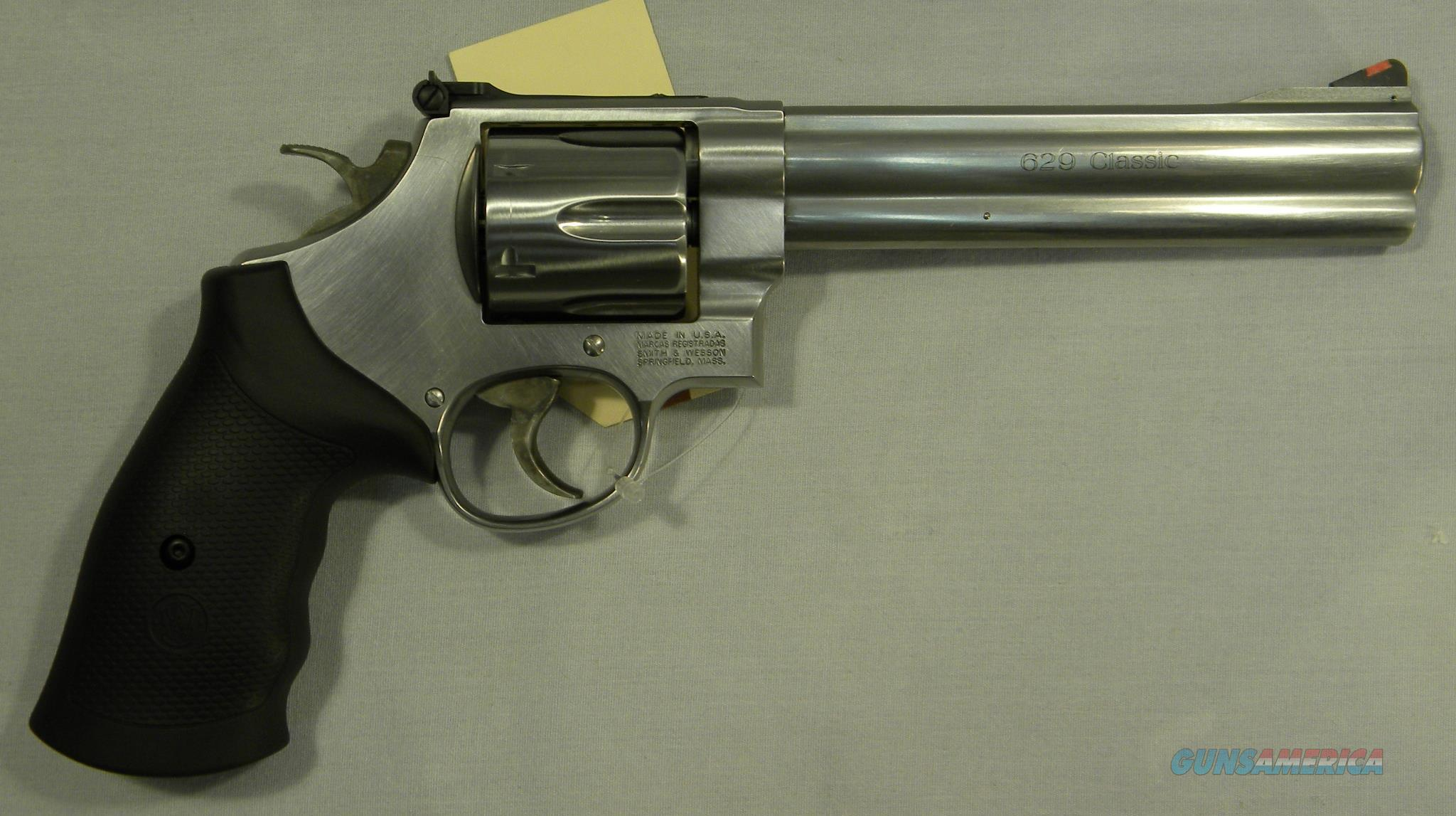 Smith & Wesson Model 629 Classic, 6-1/2'' Stainless .44 Magnum  Guns > Pistols > Smith & Wesson Revolvers > Model 629