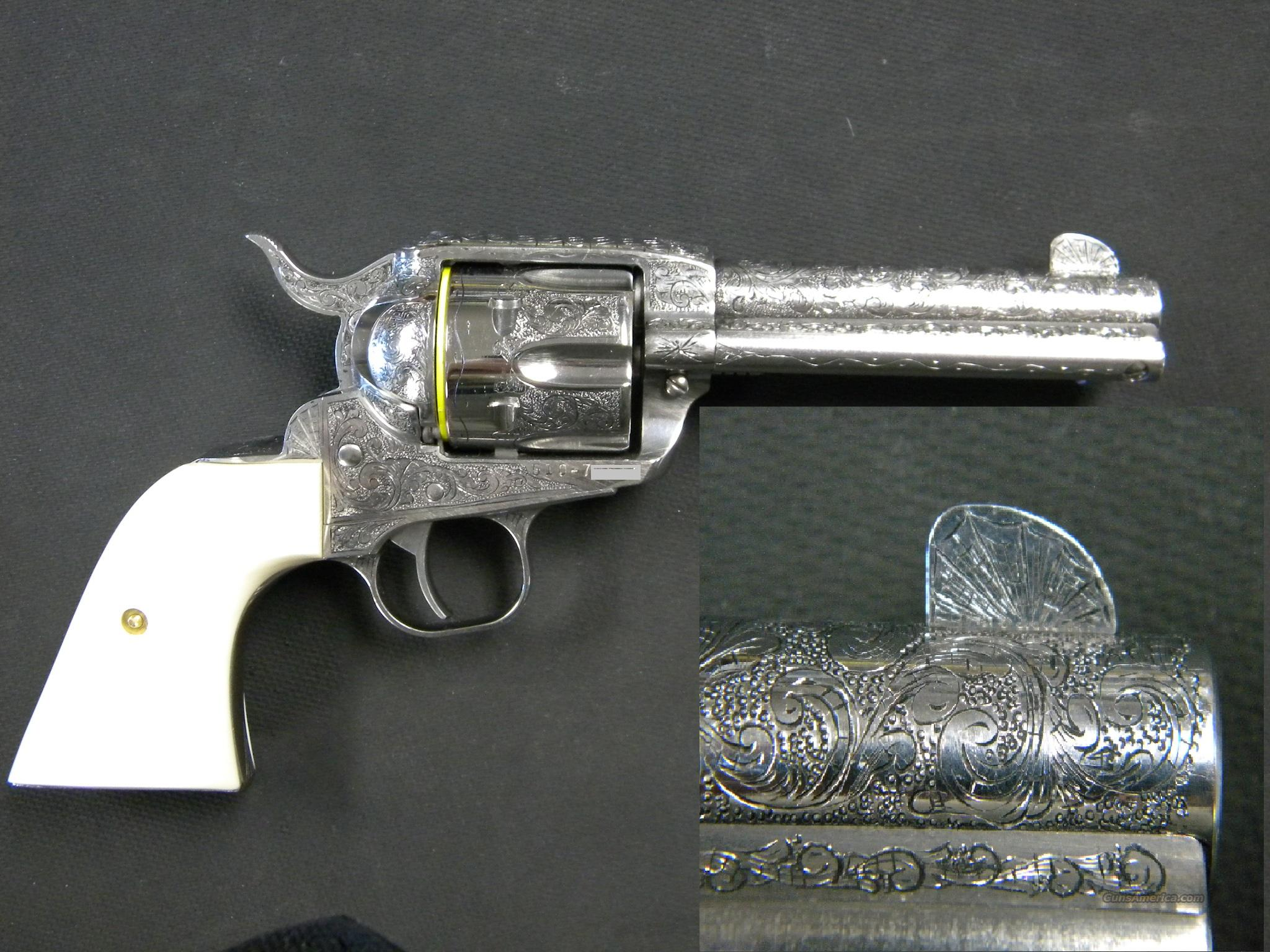 Hand Engraved Ruger New Vaquero .357 Magnum  Guns > Pistols > Ruger Single Action Revolvers > Cowboy Action