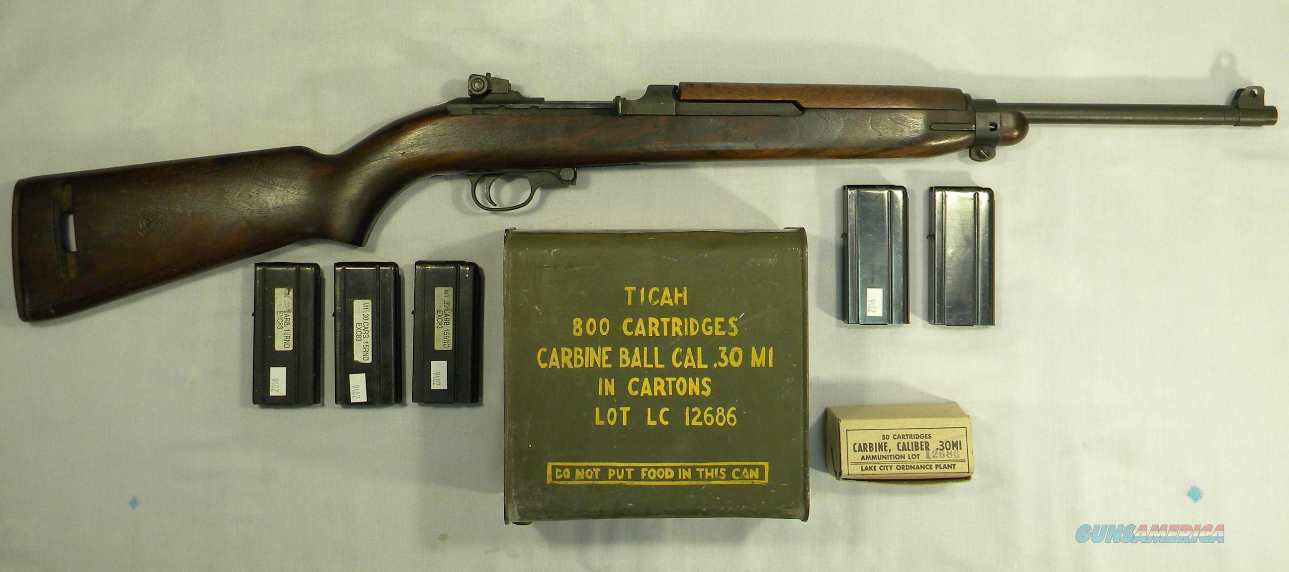 Inland M1 Carbine, 1944 WWII Type 2 Correct, .30 Carbine Semi-Automatic Rifle  Guns > Rifles > Military Misc. Rifles US > M1 Carbine