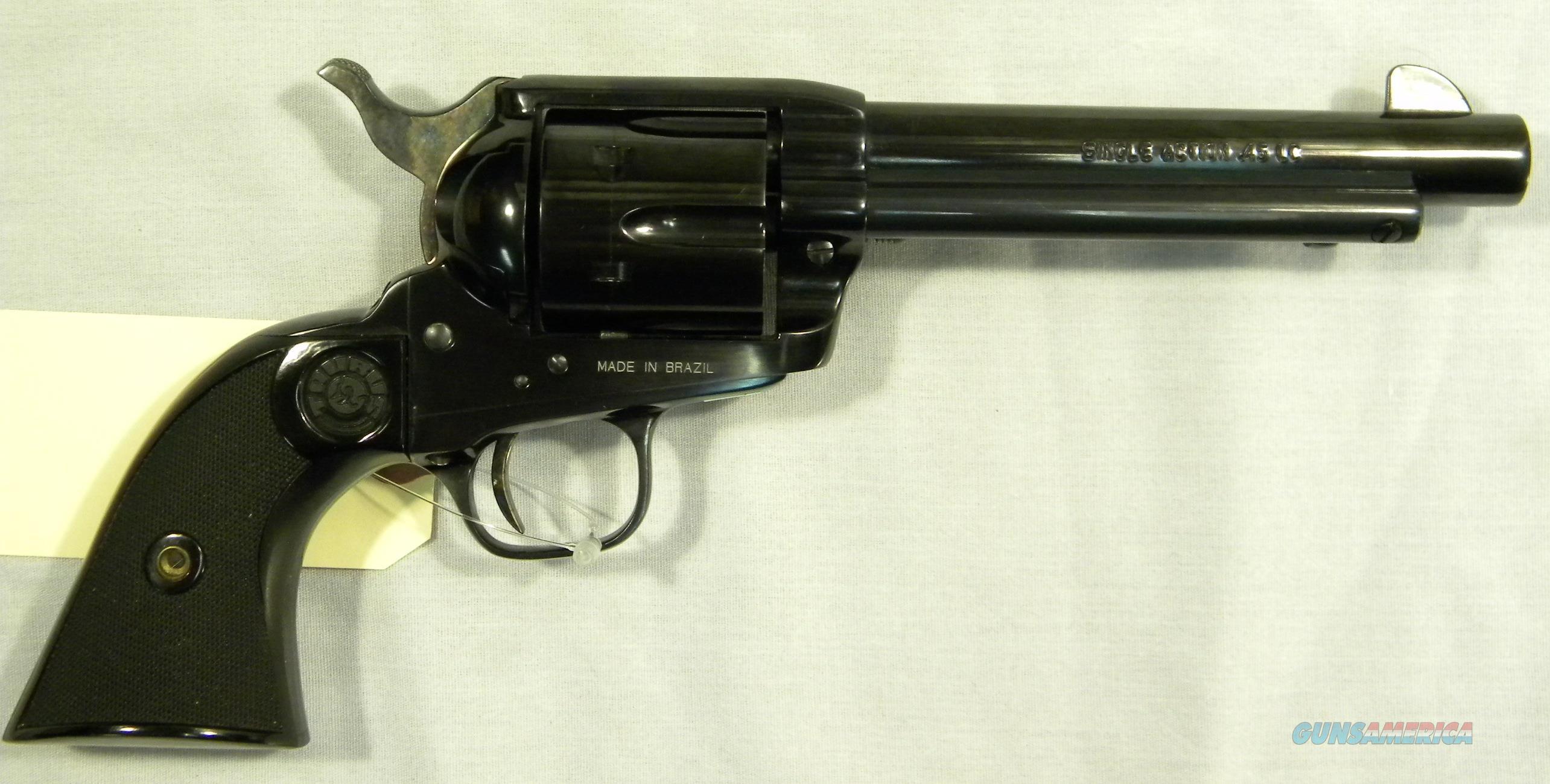 "Rare Taurus ""Gaucho"", .45LC Single-Action Revolver, 5-3/8"" Blued, As-New!  Guns > Pistols > Taurus Pistols > Revolvers"