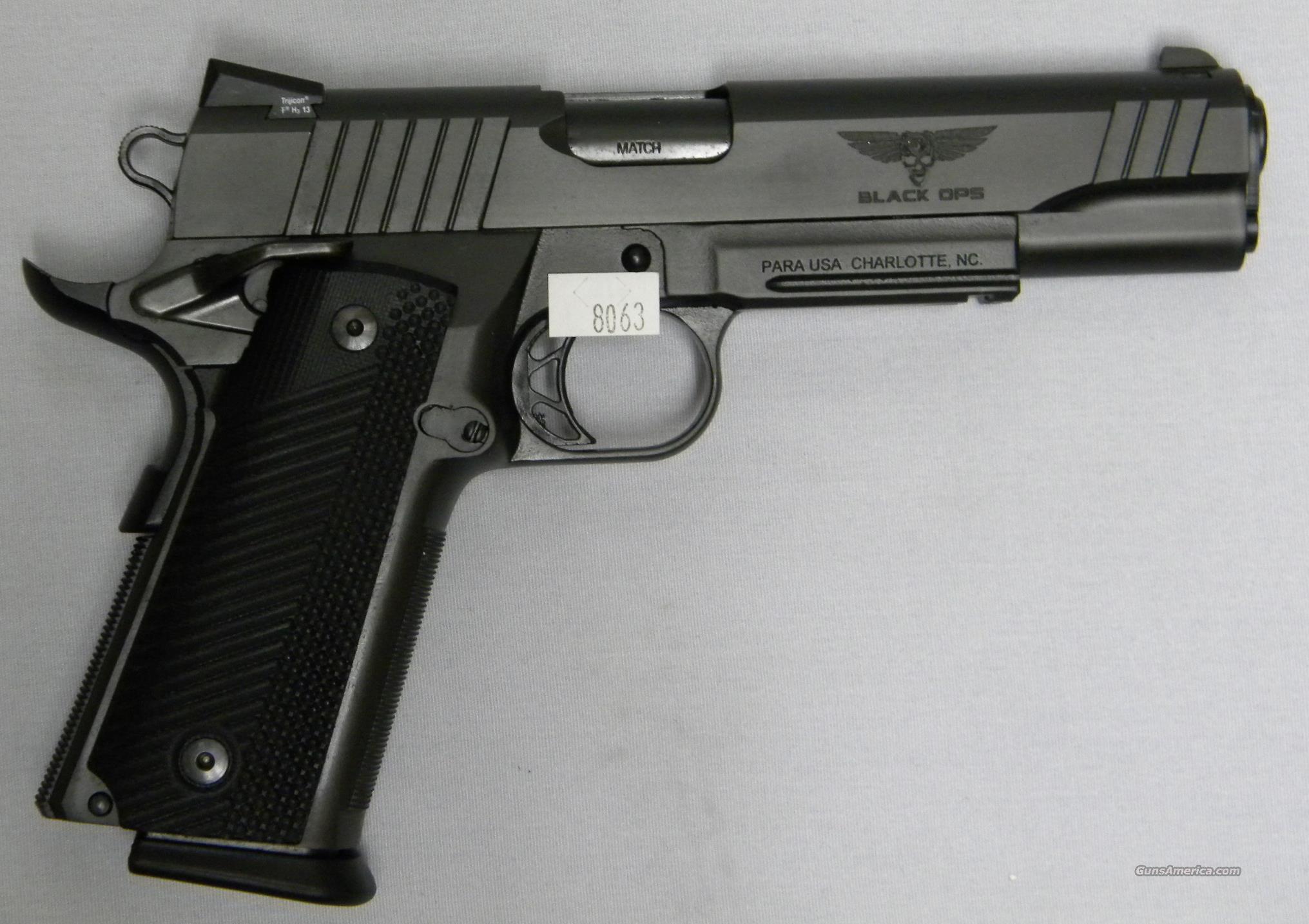 Para Usa Black Ops High Cap 45 Acp For Sale