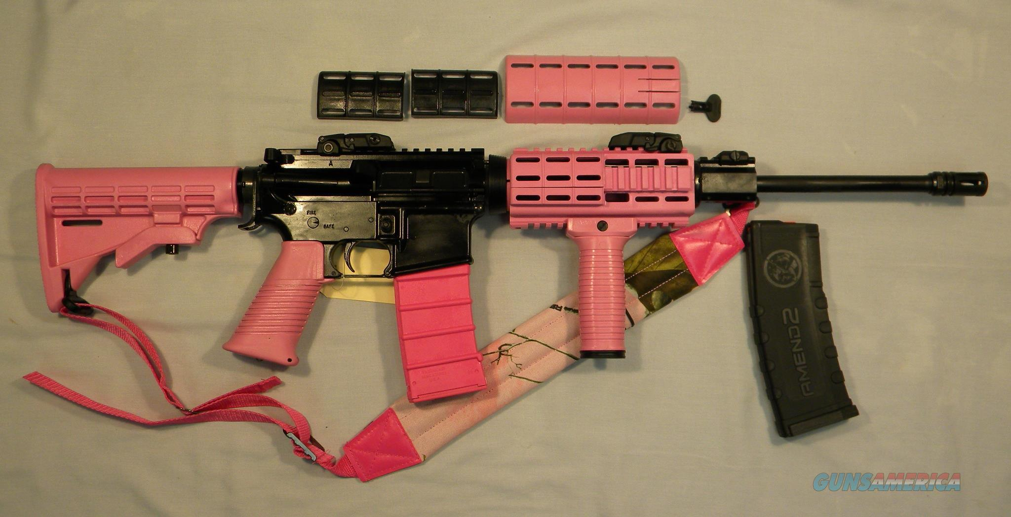 The ''Idaho Barbie''!  LAR Grizzly-15 Set In A Pink Tapco Stock Kit  Guns > Rifles > LAR/Grizzly Mfg. Co. Rifles