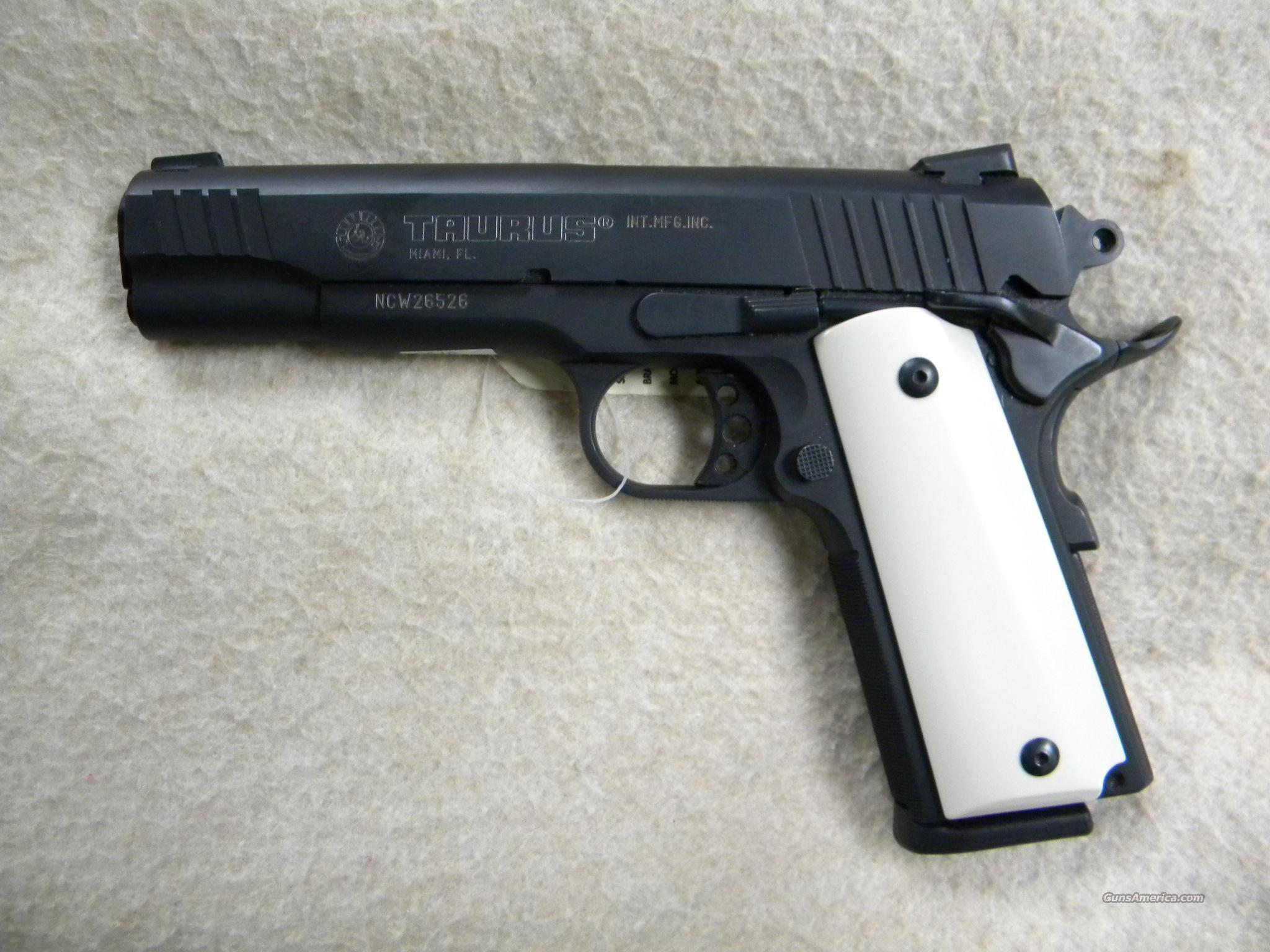 "Taurus PT1911 .45ACP 5"" Black with Ivory style grips  Guns > Pistols > Taurus Pistols/Revolvers > Pistols > Steel Frame"