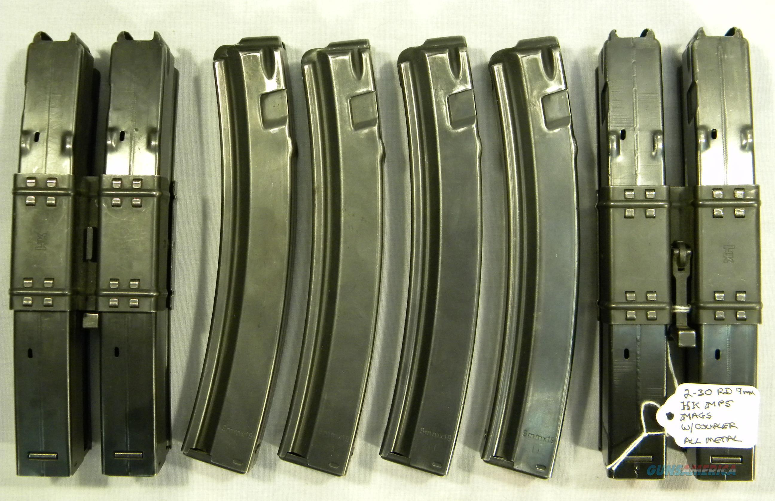 30-Round Mags For H&K MP5 9mm, With Mag Couplers  Non-Guns > Magazines & Clips > Rifle Magazines > HK/CETME