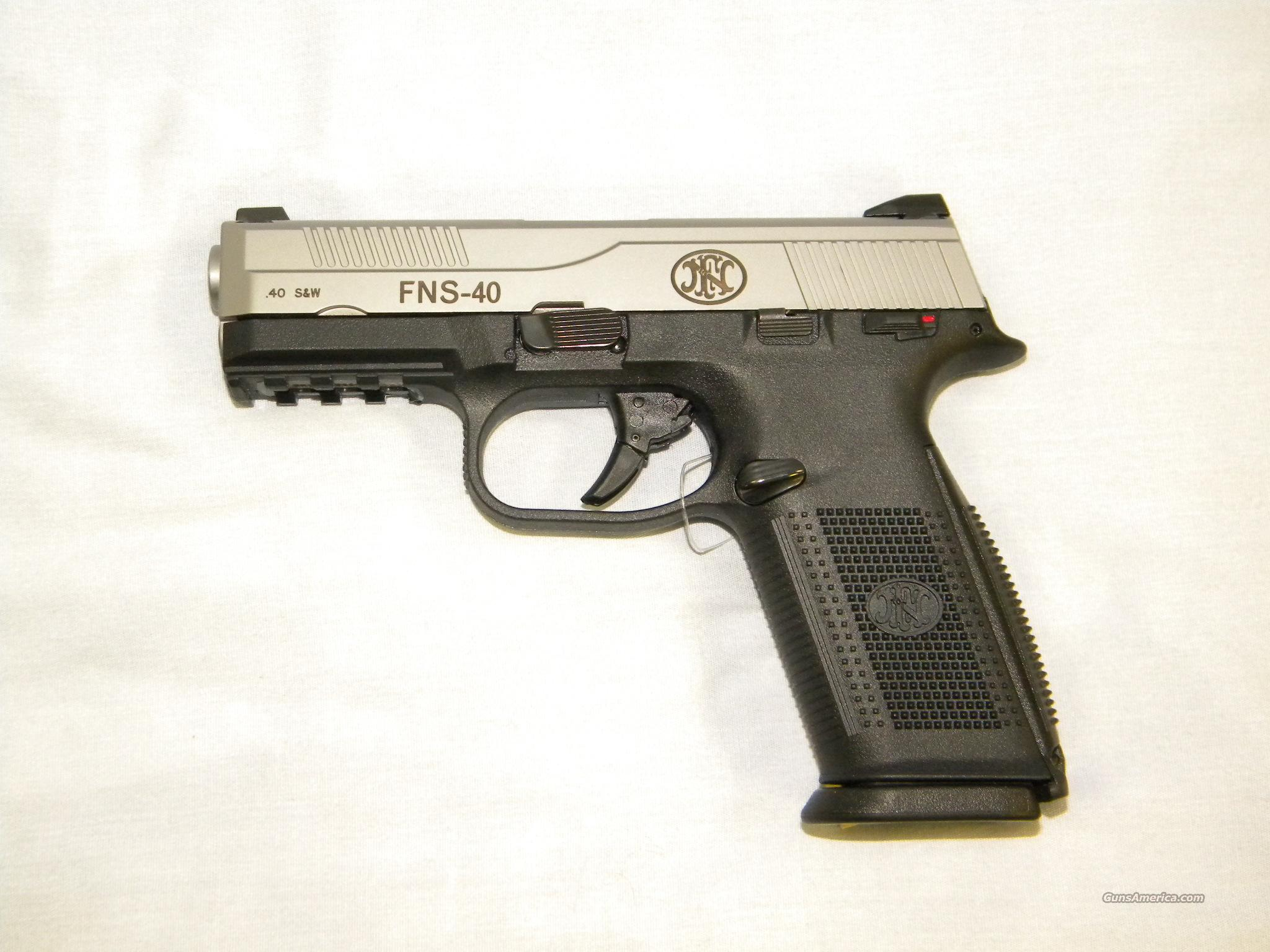 FNH FNS-40, .40 S&W, Brushed Stainless Slide  Guns > Pistols > FNH - Fabrique Nationale (FN) Pistols > FNP