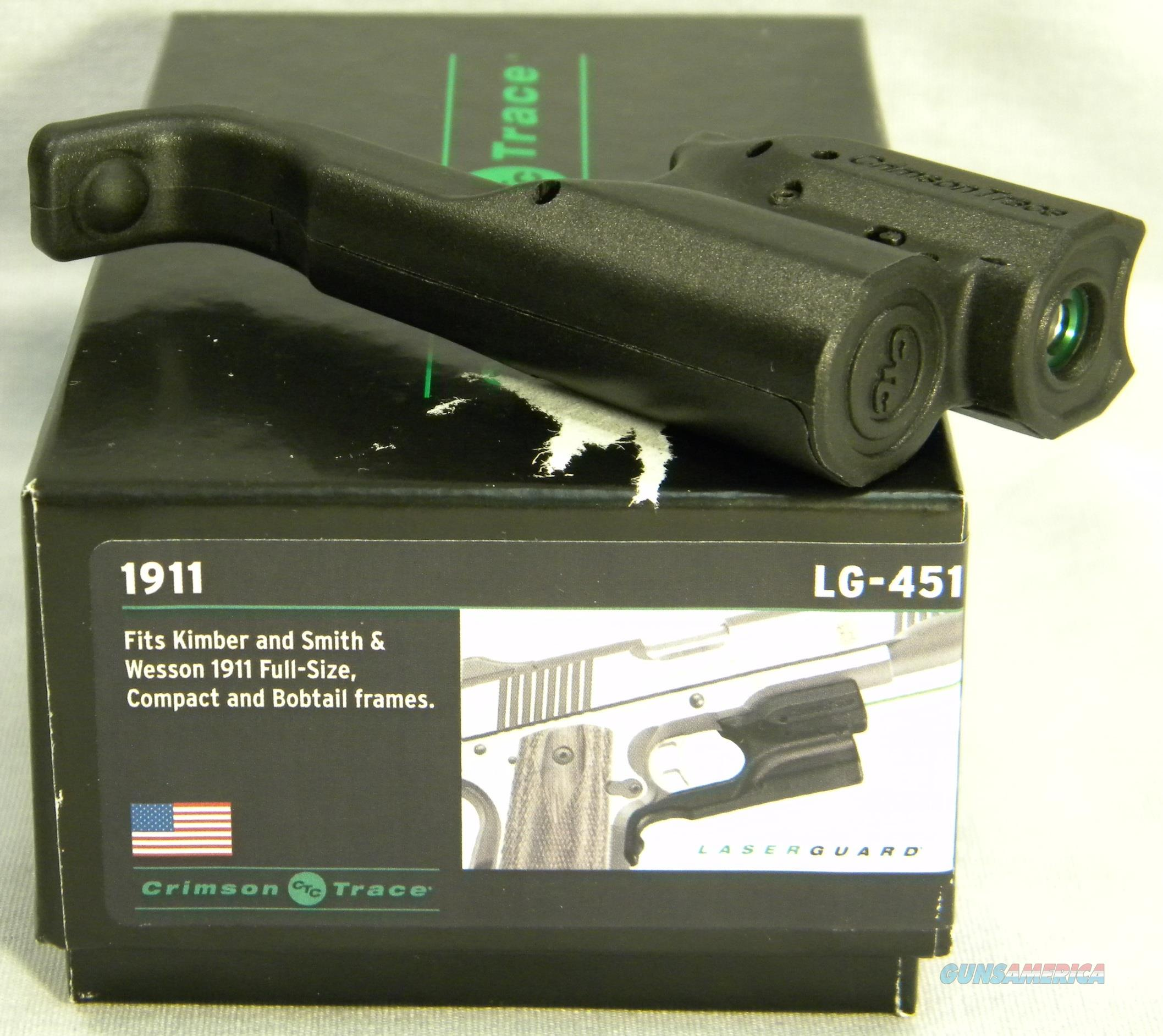 Crimson Trace LG-451 Trigger Guard Mounted Green Laser For Kimber and S&W 1911's, Crimson Trace Lasers Inventory Reduction Sale!  Non-Guns > Scopes/Mounts/Rings & Optics > Non-Scope Optics > Other