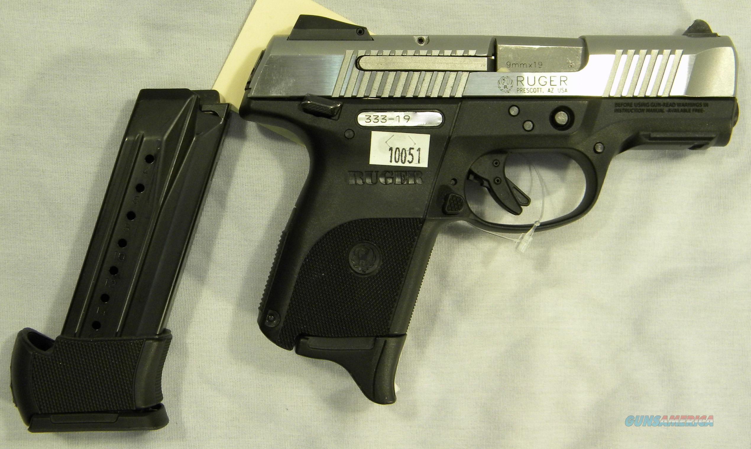 Ruger SR9C, 9mm Semi-Auto Pistol, Stainless Slide, w/Box & Two Mags  Guns > Pistols > Ruger Semi-Auto Pistols > SR Family > SR9C
