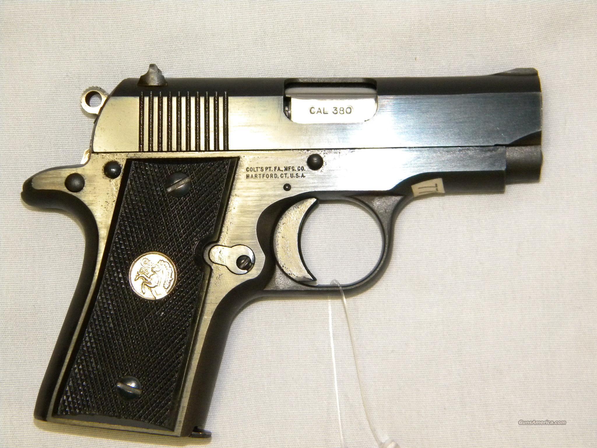 Colt Mustang, MkIV/Series 80, .380 ACP  Guns > Pistols > Colt Automatic Pistols (.25, .32, & .380 cal)