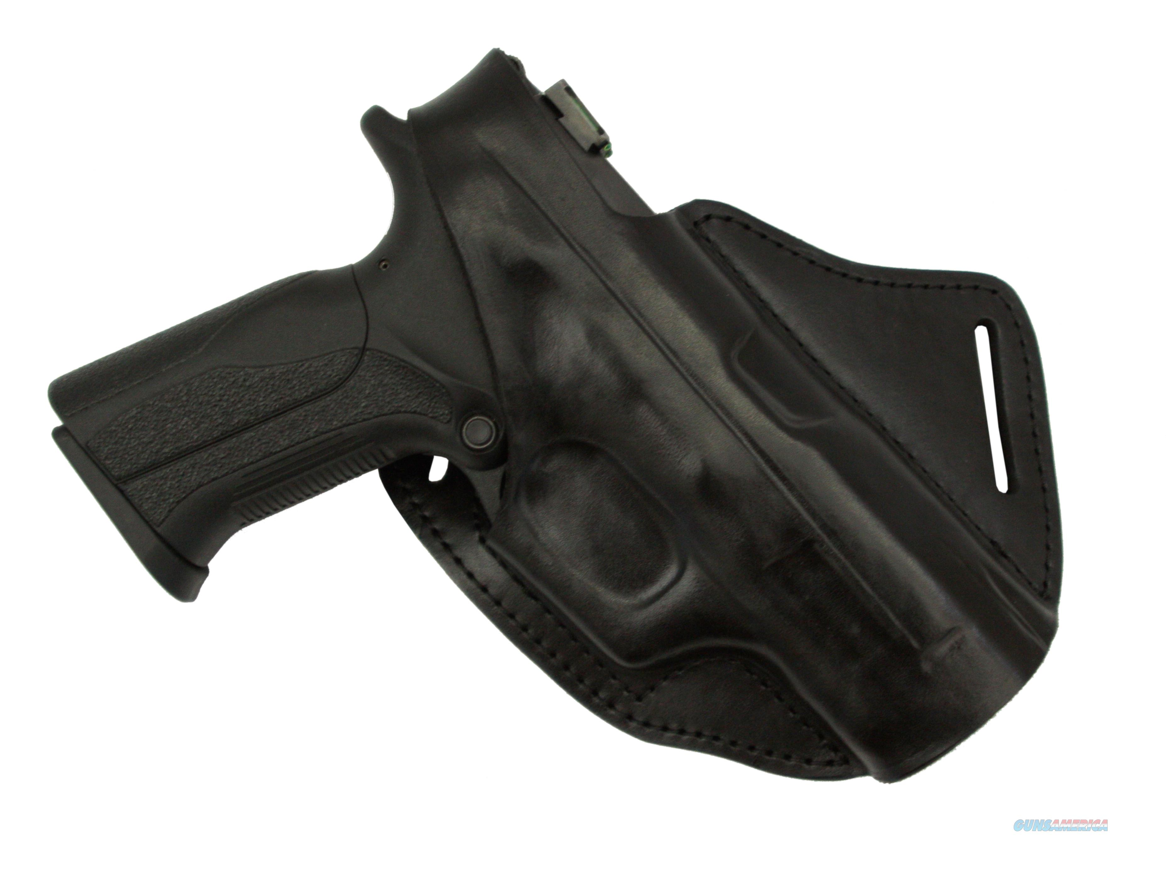 Cross Draw leather belt holster Smith & Wesson MP9  Non-Guns > Holsters and Gunleather > Concealed Carry