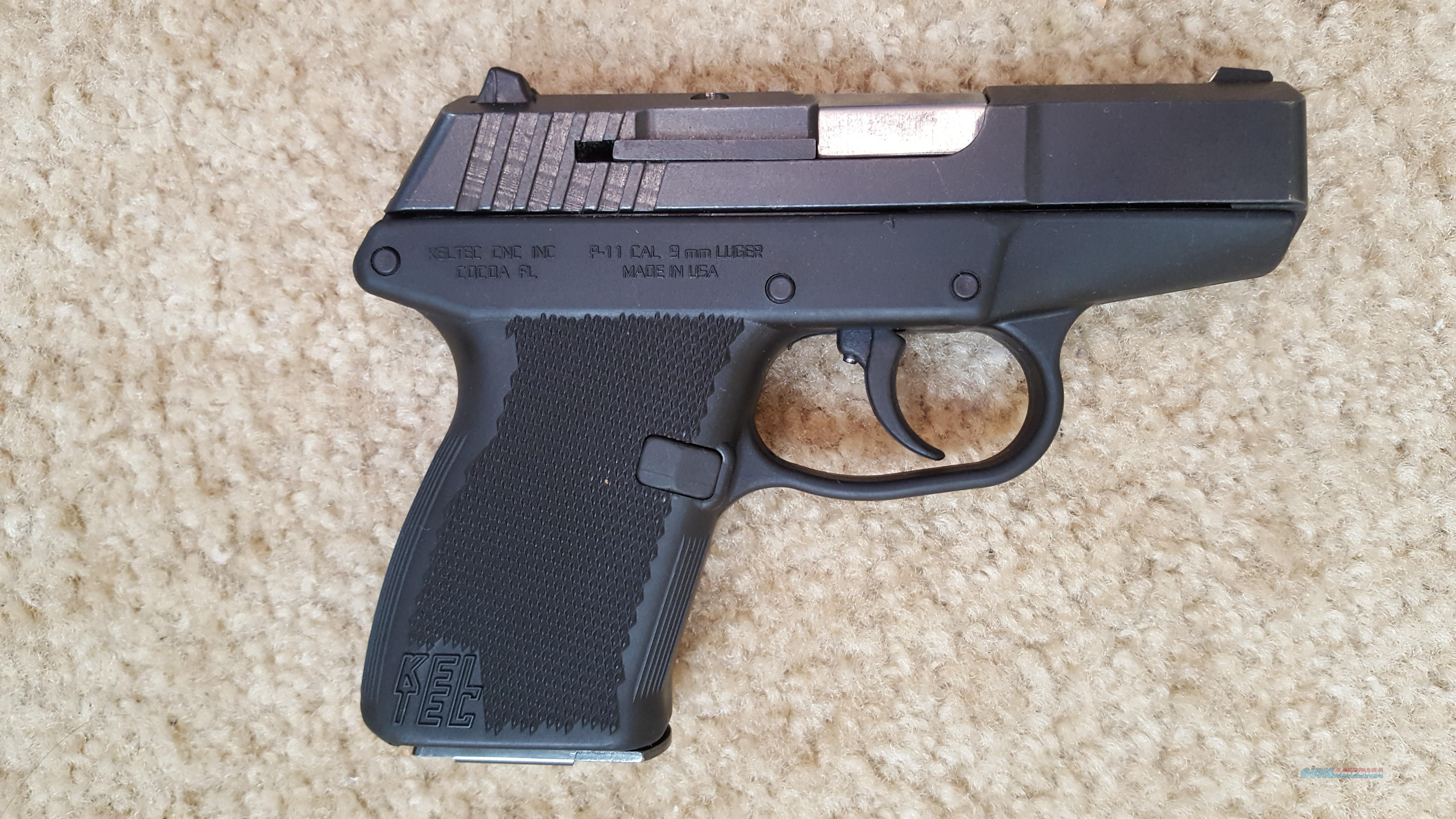 "KEL-TEC P-11, 9MM., 2.7"" BARREL, 7 RD.MAG., 8 OUNCE, DAO  Guns > Pistols > Kel-Tec Pistols > Pocket Pistol Type"