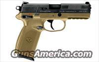 "FNH FNX-45 45ACP 4.5"" Barrel FDE NEW FREE SHIPPING 66964  Guns > Pistols > FNH - Fabrique Nationale (FN) Pistols > FNP"