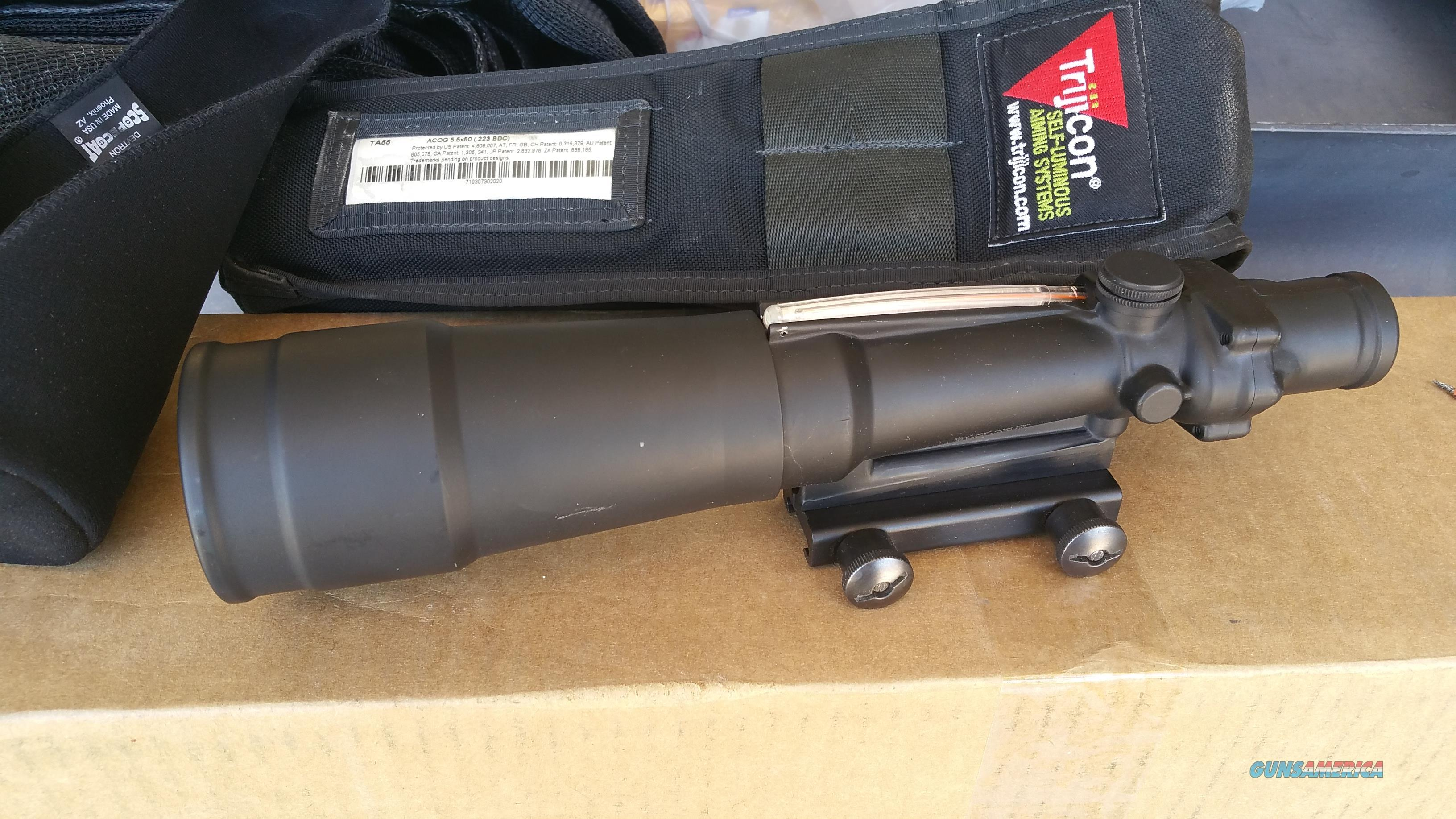 Trijicon ACOG TA55 5.5x50 Factory New Condition   Non-Guns > Scopes/Mounts/Rings & Optics > Tactical Scopes > Other Head-Up Optics