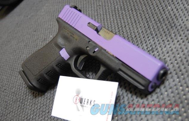 X-Werks Glock 19 Purple Slide 9mm 2-15rd  Guns > Pistols > Glock Pistols > 19