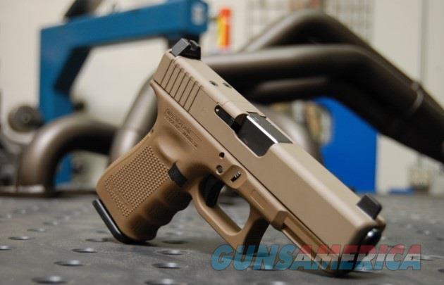 X-Werks Glock 19 Gen 4 MOS Glock FDE Trijicon Suppressor Night Sights  Guns > Pistols > Glock Pistols > 19