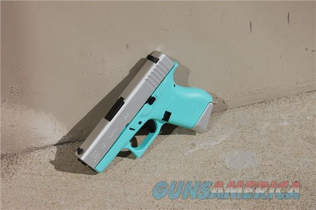 Glock 43 9mm X-Werks robin's egg blue & Satin Aluminum  Guns > Pistols > Glock Pistols > 43