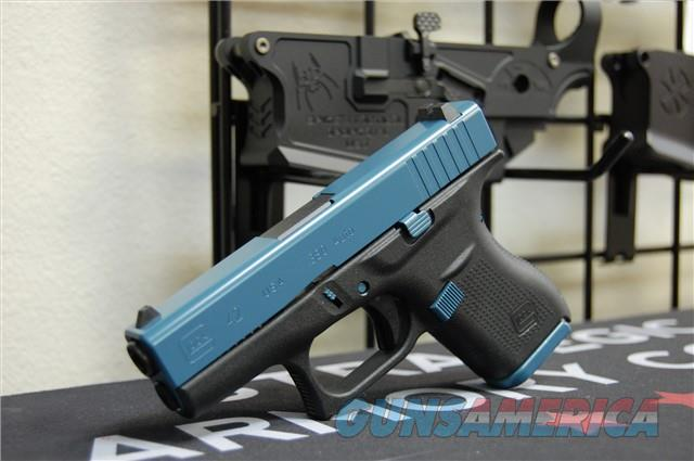 X-Werks Glock 42 .380 Civil Defense Blue Slide Parts  Guns > Pistols > Glock Pistols > 42