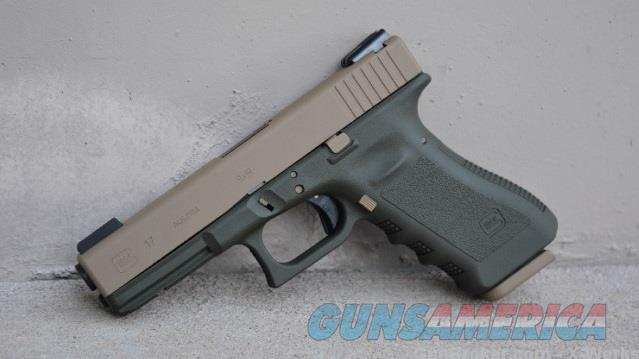 X-Werks Glock 17 G3 9mm Olive Drab Coyote Tan TFO Night Sights  Guns > Pistols > Glock Pistols > 17