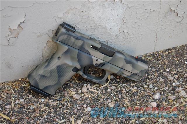 X-Werks Glock 23 Gen 4 Custom EVL Camo w/Night Sights  Guns > Pistols > Glock Pistols > 23
