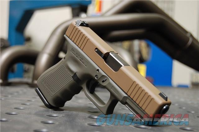 X-Werks Glock 19 Gen 4 Steel FDE Magpul OD FS  Guns > Pistols > Glock Pistols > 19