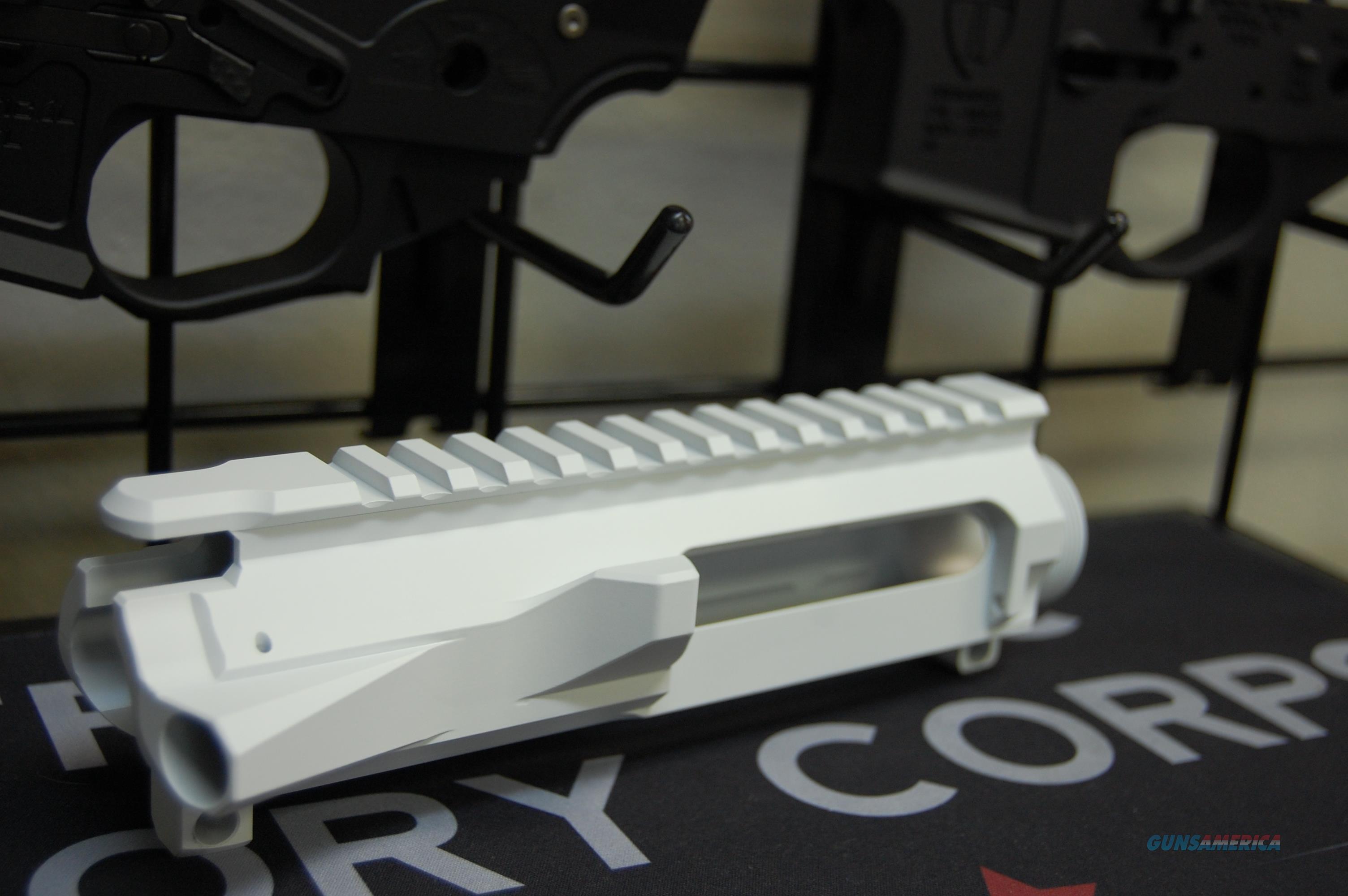 Guntec Billet Stripped AR15 Upper X-Werks White  Non-Guns > Gun Parts > M16-AR15 > Upper Only