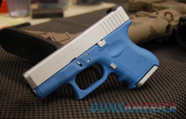 Glock 26 G3 9mm X-Werks Baby Blue & Satin Aluminum  Guns > Pistols > Glock Pistols > 26/27