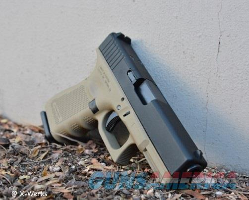 X-Werks Glock 19 G4 MOS Coyote Tan Armor Black 9mm  Guns > Pistols > Glock Pistols > 19