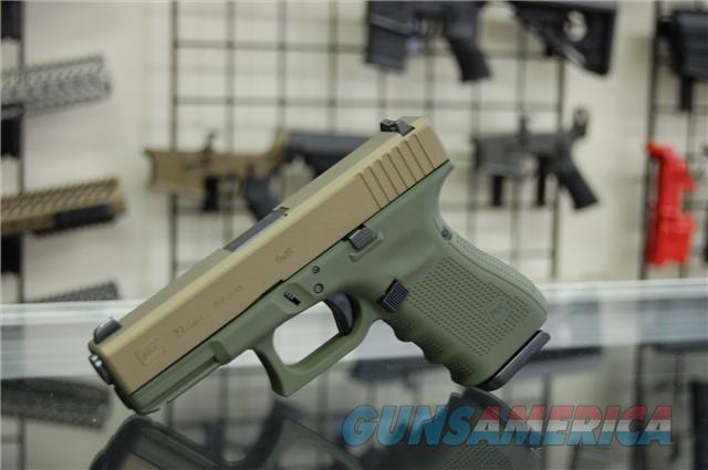 X-Werks Glock 19 G4 9mm OD Burnt Bronze XS Night S  Guns > Pistols > Glock Pistols > 19