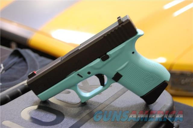 X-Werks Glock 43 robin's egg blue w/Night Sights HD 9  Guns > Pistols > Glock Pistols > 43