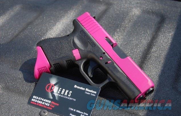 X-Werks Glock 26 G3 9mm Raspberry Pink + Pearce Extension  Guns > Pistols > Glock Pistols > 26/27