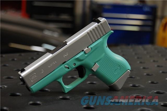 Glock 43 X-Werks Tif Blue Satin Aluminum 9mm  Guns > Pistols > Glock Pistols > 43