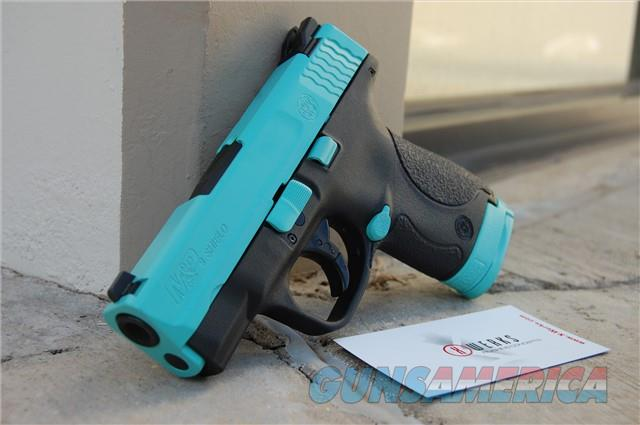 Smith & Wesson M&P Shield 9mm X-Werks robin's egg blue  Guns > Pistols > Smith & Wesson Pistols - Autos > Shield