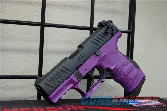 "X-Werks Walther P22 .22lr Wild Purple 3.4""  Guns > Pistols > Walther Pistols > Post WWII > P22"