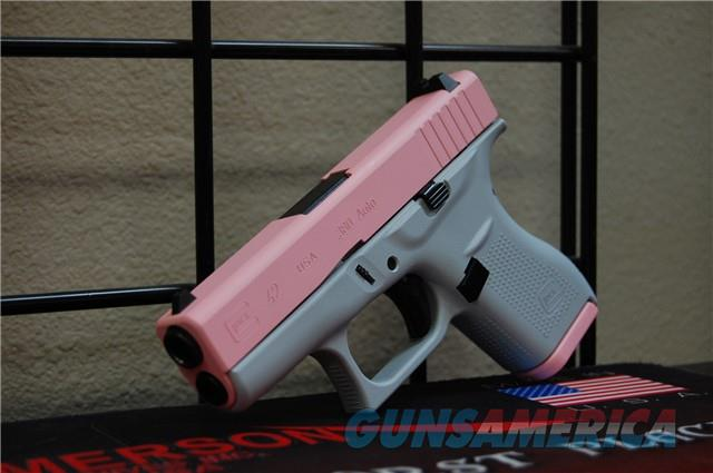 X-Werks Glock 42 .380 Light Gray Bazooka Pink  Guns > Pistols > Glock Pistols > 42