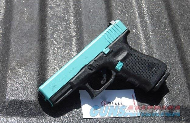 X-Werks Glock 19 Gen 4 Robins Egg Blue 9mm No CC Fee  Guns > Pistols > Glock Pistols > 19