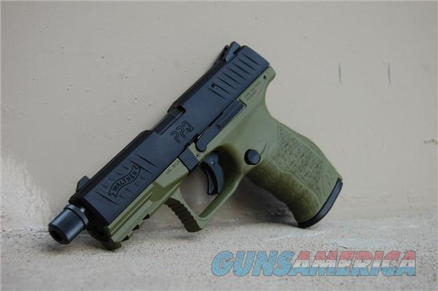 Walther PPQ M2 Tactical Threaded Brl Green 12rd  Guns > Pistols > Walther Pistols > Post WWII > P99/PPQ