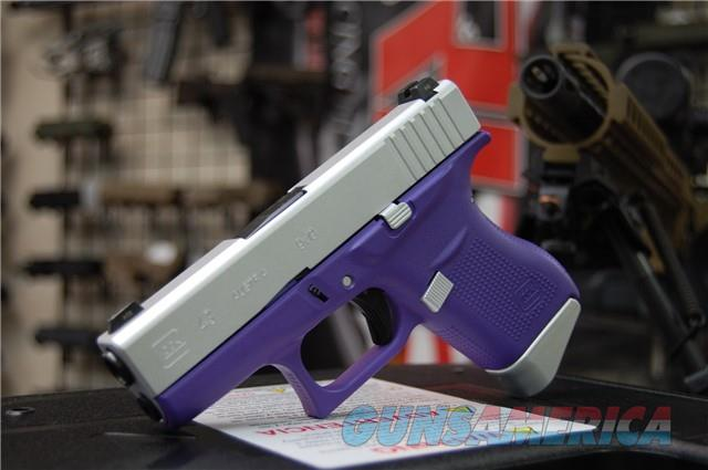 X-Werks Glock 43 Purple frame Satin Mag Night Sights  Guns > Pistols > Glock Pistols > 43