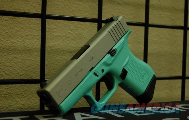 X-Werks Glock 43 9mm robin's egg blue Sat Mag  Guns > Pistols > Glock Pistols > 43