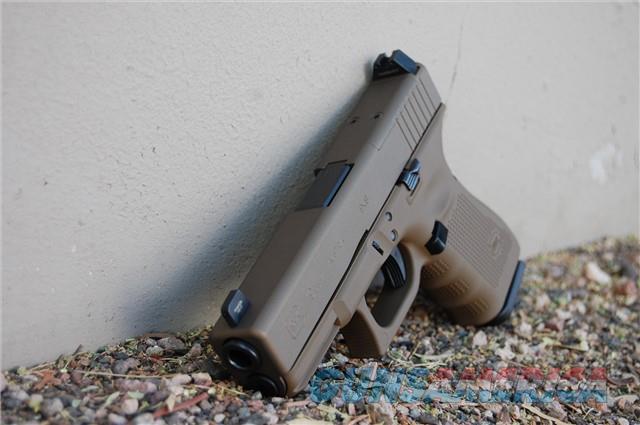 X-Werks Glock 19 Gen 4 MOS FDE BBronze NS G4  Guns > Pistols > Glock Pistols > 19